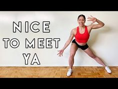 DANCE WORKOUT TO NICE TO MEET YA by Niall Horan | Full Body Cardio Workout - YouTube Nice To Meet, Workout Gear, Dance Fitness, Niall Horan, Full Body, Cardio, Youtube, Workout Clothing, Fitness Equipment