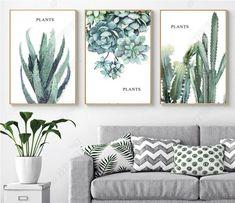 3 sets of Plants printable, Succulents, aloe botanical poster print, Cactus aloe print, botanical po Succulent Wall Art, Cactus Wall Art, Succulents Art, Canvas Art Prints, Wall Canvas, Plant Painting, Watercolor Cactus, Unique Wall Art, Home Decor Wall Art