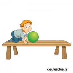 Gymles voor kleuters, les met banken en ballen 1, kleuteridee