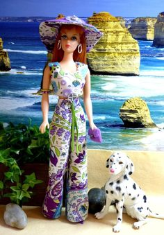 OOAK Vintage Silkstone Barbie Mod Fashion 8pc GROOVY SUMMER Clare's Couture #ClaresCouture