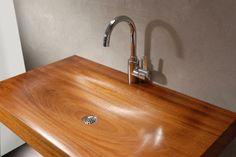 wooden sink. Van Wijk Dutch Design