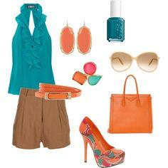 Teal & Tangerine