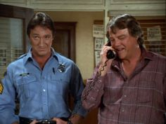 """Alan Autry as Bubba Skinner. Joe Don Baker as Tom Dugan. """"In the heat of the night."""""""