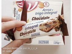 Barritas de arroz y trigo integral con chocolate Hacendado 2pp/unidad