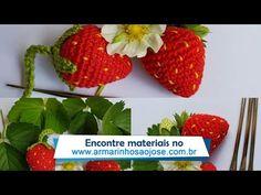 Morango de crochê - YouTube Crochet Hair Accessories, Crochet Hair Styles, Crochet Flower Tutorial, Crochet Flowers, Amigurumi Tutorial, Crochet Toys, The Creator, Strawberry, Knitting