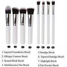 Rioa Makeup Brush Set Premium Kabuki Cosmetic Brushes Set Tools Cosmetics Eyeshadow Foundation Blending Blush Eyeliner Face Powder Kit #MakeupBrushSetsKits