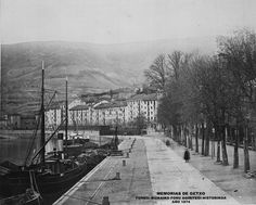 Bilbao, docks of the Arenal and Sendeja, ca. Old Pictures, Old Photos, Basque Country, Barbados, Railroad Tracks, Landscape Design, Weird, France, River