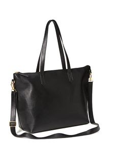 11958565e7d5 Classic Faux-Leather Zipper Tote for Women Tote Purse