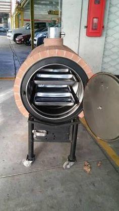 Resultado de imagen para hornos de barro Wood Oven, Wood Fired Oven, Barbecue, Barrel Stove, Oven Diy, Bread Oven, Outdoor Oven, Kitchen Oven, Garden Yard Ideas