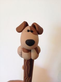 Polymer Clay Pooch on a Stick Ball Point Pen                                                                                                                                                                                 Mais