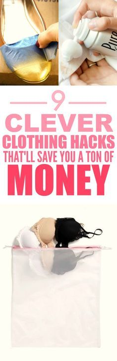 These 9 clothing hacks and tips are THE BEST! I'm so happy I found this AMAZING post! Now I can save money and keep my favorite outfits! I'm SO pinning for later!