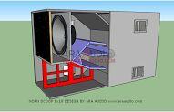 Permalink to Skema Box Horn Scoop Terbaru Subwoofer Box Design, Speaker Box Design, Speaker Plans, Diy Speakers, Horns, 3d Printer, Locker Storage, 18th, Audio