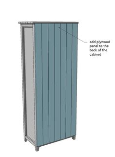 How to Build a Storage Cabinet in 9 Steps — Simply Handmade Studios Garden Storage Cabinet, Garage Storage Cabinets, Diy Kitchen Cabinets, Locker Storage, Drawer Storage, Media Storage, Kitchen Drawers, Diy Projects Plans, Wood Shop Projects