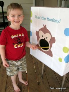 Craft, Interrupted: Monkey Party Games - Feed the Monkey!