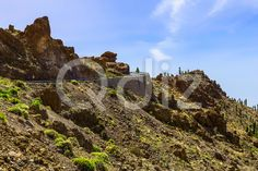 Qdiz Stock Images Mountains on Tenerife Island in Spain,  #blue #Canary #cloud #day #green #island #landmark #landscape #mountain #nature #park #road #rock #sky #Spain #spring #summer #Tenerife #Travel #view