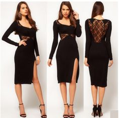 New style fashion lace stitch decoration sexy pretty dress