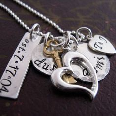 The Keys to My Heart family necklace! LOVE!!!