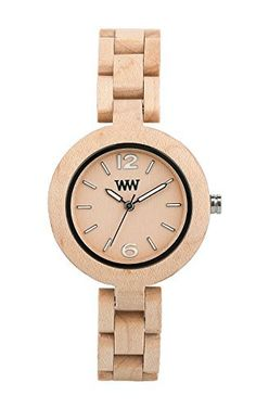 Women's Wrist Watches - WeWOOD Mimosa Beige ** Continue to the product at the image link. Wood Store, Wooden Watch, Imitation Jewelry, Beige, How To Antique Wood, Wooden Jewelry, Cool Watches, Wrist Watches, Jewelry Watches