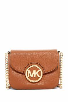 Michael Kors Fulton SM Crossbody Messenger Leather Handbag, Luggage  #MichaelKors #MessengerCrossBody