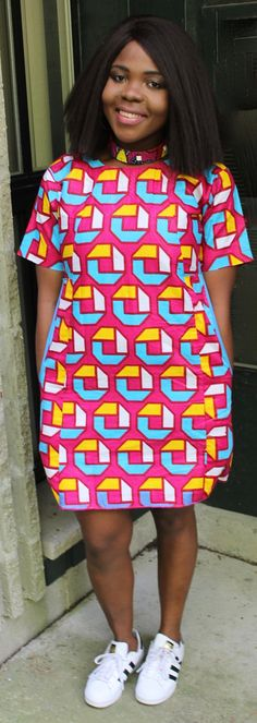 Perfect Free Dress for any occasion. Can be dressed up or down. Size medium is shown in the picture , does not come with necklace. Summer dress, african print dress. Ankara dress