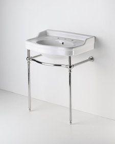 Palladio Metal Round Two Leg Single Washstand Waterworks Wash Pinterest Bathroom Bath And Powder Room