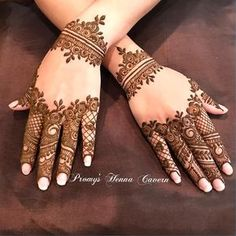 Mehndi design is one of the most authentic arts for girls. The ladies who want to decorate their hands with the best mehndi designs. Finger Henna Designs, Henna Art Designs, Mehndi Designs 2018, Stylish Mehndi Designs, Mehndi Designs For Fingers, Wedding Mehndi Designs, Mehndi Design Pictures, Arabic Mehndi Designs, Mehndi Images