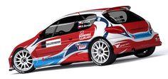 V-Group Sport - J.Vlček – R.Strnad (Peugeot 206 Kit Car) - wrap design. First seen at Rally Český Krumlov 2012.