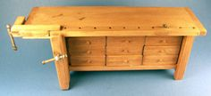 """Workbench $155, Working drawers, 8"""" wide, 2 1/4"""" deep, 3 1/4"""" tall,"""