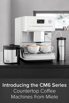 Miele coffee machines are guaranteed to serve up unforgettable coffee delights for even the most discerning coffee connoisseur. For those who want skip installation of a built-in coffee maker, Miele created the CM6 Series countertop coffee machines. Each unit is crafted with a perfectly coordinated system guaranteed to provide pure coffee enjoyment that you can experience with all your senses. Cappuccino Coffee, Coffee Cups, Miele Coffee Machine, Built In Coffee Maker, Miele Kitchen, Coffee Places, Coffee Machines, Build Your Dream Home, Dream Homes