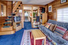 Quirky Lake Union Float House - this float house on Seattle's Lake Union was built in 1920 and added on over the years. It now has 640 sq ft with one bedroom. - interior - photos : SmallHouseBliss #1