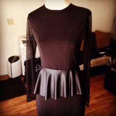 Knit dress w/ pleather peplum by: oseas villatoro