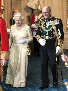 Queen Elizabeth and Prince Phillip At the opening of Parliament