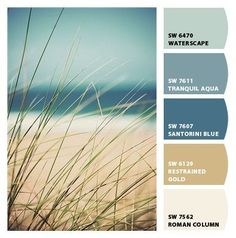 I found this picture on Pinterest and then I put it into the Let's Chip It feature on Sherwin-Williams' site. It came up with a great color palette!