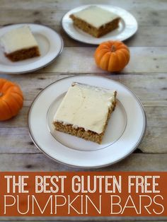 The best gluten free pumpkin bars you will ever try!