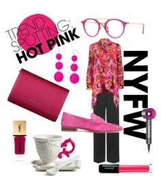 """Hot pink"" by pinkbikegurl on Polyvore featuring Balenciaga, Dyson, Oribe, BaubleBar, Mary Katrantzou, Ray-Ban, Yves Saint Laurent, Guerlain, Seletti and Givenchy"