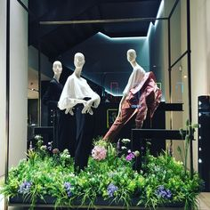 "MAXMARA, Calle Serano, Madrid, Spain, ""Listen Emily... It's finally Spring. Have your anxiety or depression symptoms changed, Wendy?"", photo by AEV-Barcelona, pinned by Ton van der Veer Text On Photo, Photo S, Depression Symptoms, Max Mara, Visual Merchandising, Anxiety, Boutique Ideas, Windows, Window Displays"