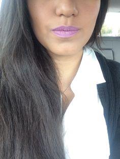 Purple lipstick for a casual day