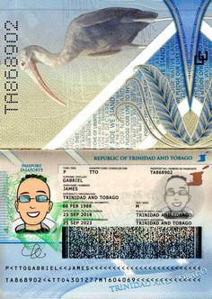Trinidad and Tobago passport template Passport Template, Psd Templates, Trinidad And Tobago, Caribbean, Photoshop, Names, Life