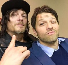 Norman Reedus and Misha Collins.... YES
