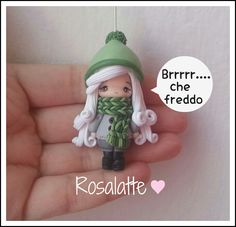 Pendant doll winter in polymer clay (Fimo) | Flickr - Photo Sharing!