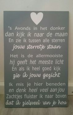 Tekstbord: 's Avonds in het donker True Quotes, Best Quotes, Miss You Daddy, Grieving Mother, Cute Letters, Beautiful Love Quotes, Life Journal, Verse, Story Of My Life