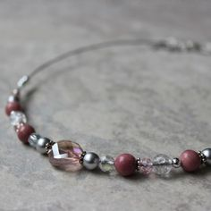 Beaded Necklaces Handmade Necklaces for Women Blush Pink...
