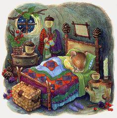 Beloved children's author and illustrator Katy Bratun,The Gingerbread Mouse Art And Illustration, Illustration Inspiration, Beatrix Potter, Cute Mouse, Tatty Teddy, Whimsical Art, Christmas Art, Cute Art, Illustrators