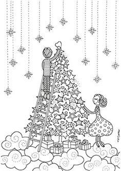 Pri Sathler - Freebie - Desenho para colorir - Coloring book  - Namorandinhos - Christmas Free colouring pages - Love