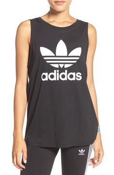 Free shipping and returns on adidas Originals Trefoil Logo Relaxed Fit Tank at Nordstrom.com. An iconic adidas signature, the trefoil logo, fronts this comfy cotton-jersey tank cut for a loose, boyfriend fit.