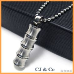Silver Tone 316L Stainless Steel Men Pendant Necklace - $40nok