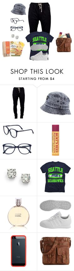 """""""seattle seahawks"""" by daejeh ❤ liked on Polyvore featuring DRKSHDW, STELLA McCARTNEY, Burt's Bees, Saks Fifth Avenue, Chanel, adidas and Mix No. 6"""