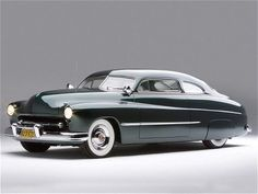 1951 Mercury Lead Sled..huge and sleek all at the same time.  I dream of a black one with black and red interior.