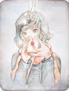 Pretty #Watercolor #Illustration by: Sylphiel Metallium