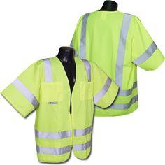 Radians Hi Vis Green Solid Vest Class 3 Vests, Safety, Coat, Green, Jackets, Fashion, Security Guard, Down Jackets, Moda